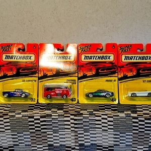 "Matchbox ""superfast"" toy cars 1995"